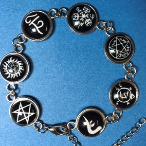 Jewelry - Supernatural Symbol Bracelet SPN Silver Tone